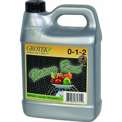 GroTek Heavy Bud 1L Blooming Supplement Stimulator - Flowering Stage Hydroponics