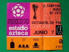 1970 MEXICO IX SOCCER WORLD CUP JUNE 7 MEXICO 4 vs EL SALVADOR 0 ORIGINAL TICKET