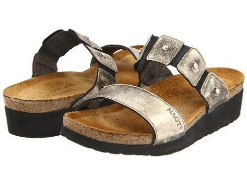 Naot Ashley Metal Leather Slide Sandal Sandal Sandal Donna  Dimensiones 5-11 36-42 NEW    a45d50