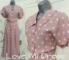 WW2 40's Style Polka Dot Tea/Day Dress Sz 10 - 12 EU38 - 40 - Principles