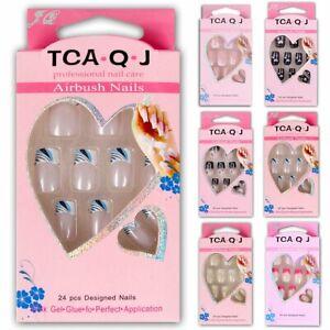 24PCS-Fashion-Natural-Short-False-Nails-Full-Cover-Gel-Fake-Nails-Art-Tips-Set