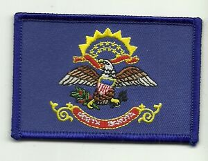 NORTH DAKOTA STATE FLAG Embroidered Patch