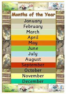 the gruffalo months of the year poster teaching resource home