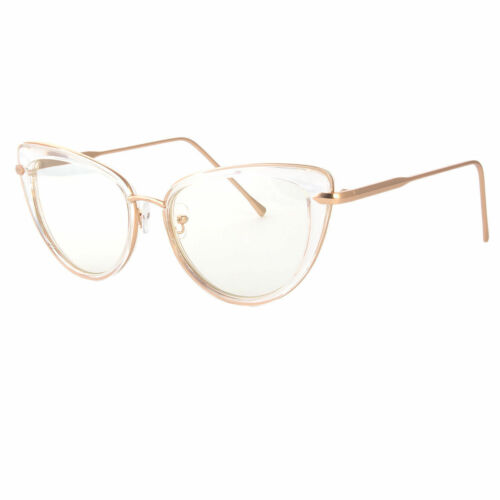 Large CAT Eye Metal Rim Big Fashion Girl Frames Clear Women EyeGlasses