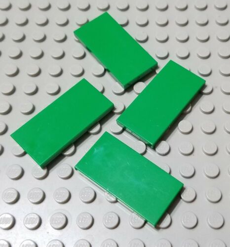 LEGO New Lot of 4 Green 2x4 Smooth City Sign Tiles