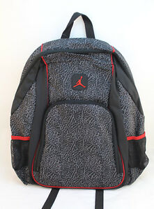 NWT JORDAN JUMPMAN Black and Red Backpack with Laptop Storage RETAIL ... 6bcca893855f9