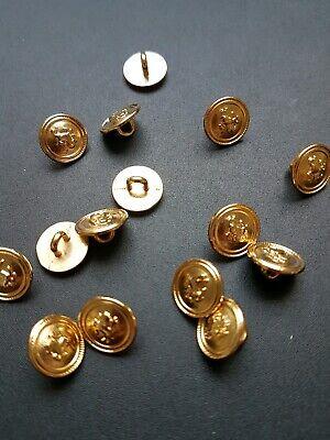 Gold-Metall 15 mm Durchmesser 6 Trachtenknöpfe wie Neu