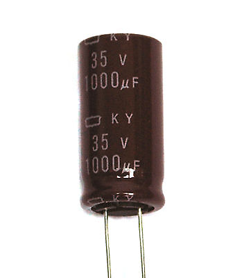5pc Electrolytic Capacitor KY 1000uF 50V 105℃ 10000hr Nippon Chemi-Con 16x25mm