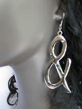 New Women Fashion Silver Metal Big Trendy Earrings Rhinestones % & Percentage