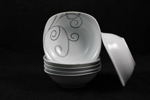 6er Set Schälchen Schüssel Müslischale Suppentasse ca.16cm eckig