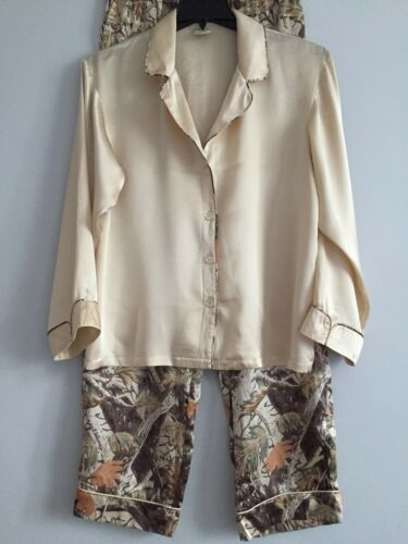 Cabela's CAMO 100% Silk Pajama Set size M(L)