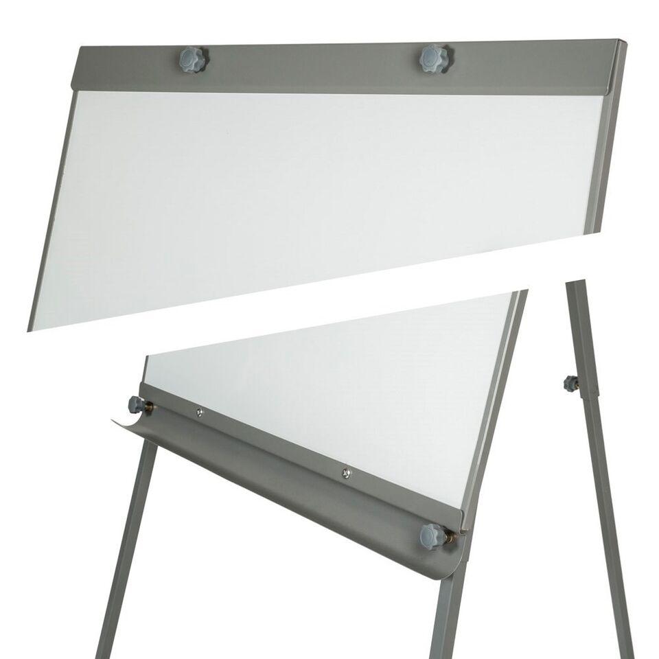 Whiteboard magnettavle på ben inkl. 12 magneter