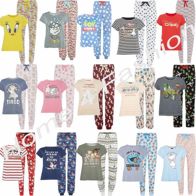 Disney Ladies Short Sleeve Pyjamas Women/'s TShirt /& Bottom PJ/'s Primark Pajama
