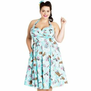 b29f723d7cd Details about HELL BUNNY SUKI 50 S TROPICAL TIKI FLAMINGO DAY OF THE DEAD  DRESS PLUS SIZE NEW