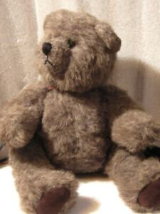 Artist-Antique-bear-13-034-Charcoal-GROVER-jointed-acrylic-early-80-039-s-PRISTINE-NEW