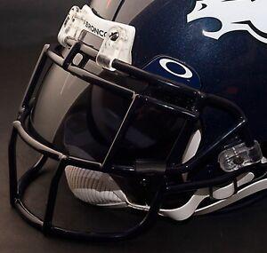 DENVER-BRONCOS-NFL-Schutt-EGOP-Football-Helmet-Facemask-Faceguard-NAVY-BLUE