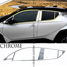 Door Sill Protector For Toyota C-HR CHR 2016 2017 2018 2019 2020 Stainless Steel Car Kick Plates Pedal Non-Slip Anti-Scratch Plate Protector Sticker Car Styling Threshold Cover Protection Trim
