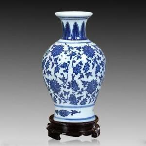 Home decoration China jingdezhen blue and white porcelain vase