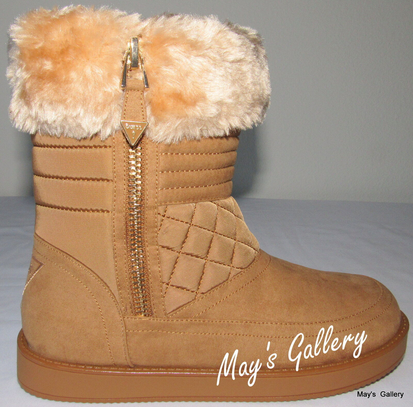 GUESS High Top Faux Fur Trimmed Schuhe Schuhes Suede  Booties Boot  Stiefel  Suede Ankle 7 8d823f
