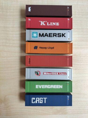 Set 5 8 verschiedene 1:160 Walthers 40 Fuß High-Cube Container