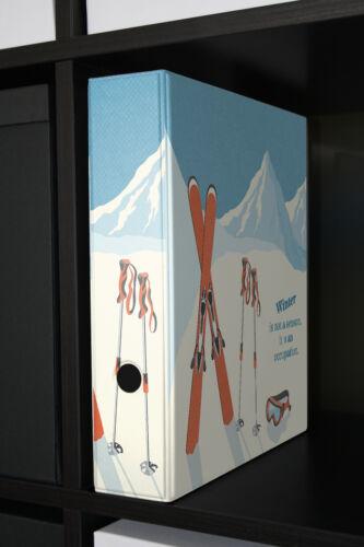 Motiv Akten Ordner Bedruckt 60mm DIN A4 Winter