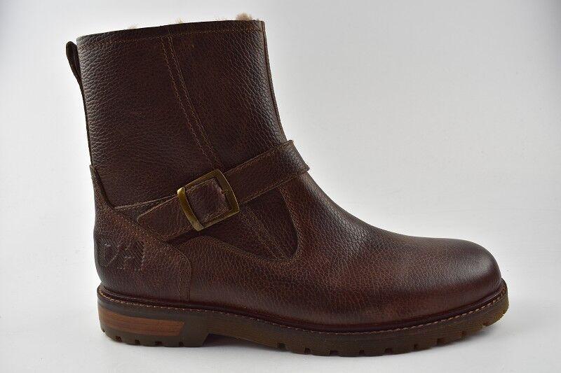 Daniel Hechter señores botas de cuero marrón oscuro en la