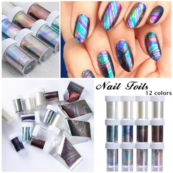 1 Bottle  Nail Foils 4*100cm Starry Sky Stickers Colorful Manicure Tips Decor