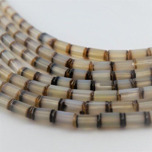 Agate Perles 5 mm Hexagonale Long Marron Blanc Pierre Naturelle Bijoux Pierre Strang 40 cm