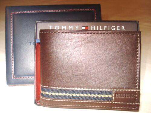 NEW TOMMY HILFIGER PASSCASE BIFOLD BROWN WALLET 4000-02  Retail Price $42.00