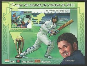 TOGO-2011-CRICKET-WORLD-CUP-S-Sheet-IMPERF-MNH-SACHIN-TENDULKAR-SOURAV-GANGULY