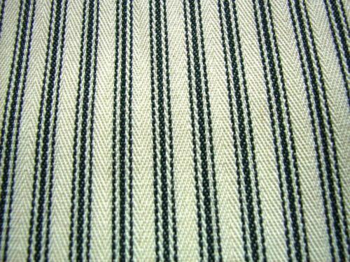 Black Cream French Curtain Ticking Stripe  Fabric 214cm x 25 MTRS
