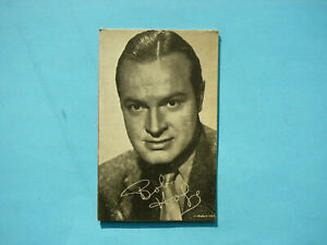 1947-66-TELEVISION-amp-ACTORS-EXHIBIT-CARD-PHOTO-BOB-HOPE-SHARP-EXHIBITS