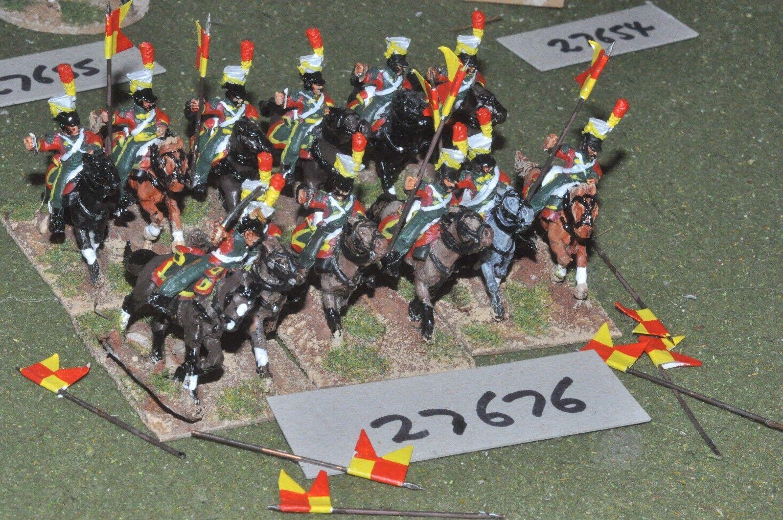 25mm napoleonic   french - lancers 12 figures - cav (27676)