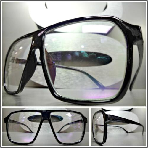 Classic Vintage RETRO Style Clear Lens EYE GLASSES Square Black Fashion Frame