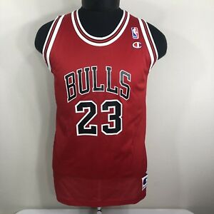 e66c12a1d VTG Michael Jordan Champion Jersey  23 Chicago Bulls 90s NBA Youth ...