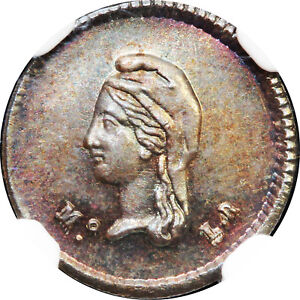 Mexico-1-4-Real-Cuartilla-Mo-1843-L-R-NGC-MS64-KM-368-6