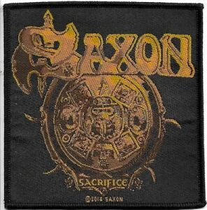 Official-Licensed-Merch-Woven-Sew-on-PATCH-Heavy-Metal-Rock-SAXON-Sacrifice