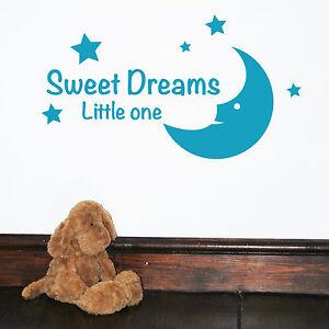 Dettagli Su Sweet Dreams Little Un Bambini Parole Da Parete Citazioni Adesivo Decalcomania