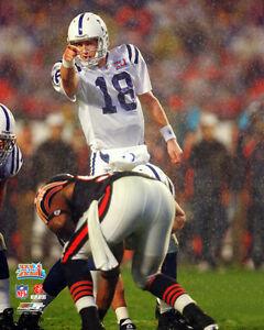 87f0328a8 Image is loading Peyton-Manning-RAIN-WARRIOR-Super-Bowl-XLI-Indianapolis-