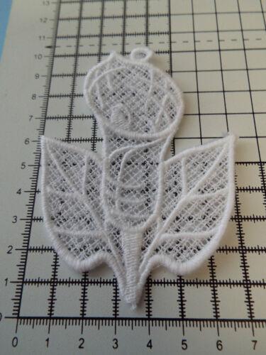 10 x 8 cm Large White Flower Guipure Lace,Applique,Wedding-Calla Lily Motif