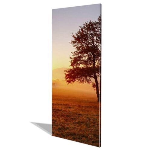 banjado Metall Pinnwand 30x75cm groß Memoboard magnetisch Sonnenaufgang
