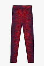 *BNWT* Kenzo x H&M Wool Leggings Red Tiger Stripe Print-4