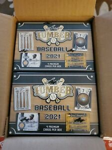 2021 Leaf Lumber Baseball Hobby - Factory Sealed Box - IN HAND LUMBER KINGS MLB