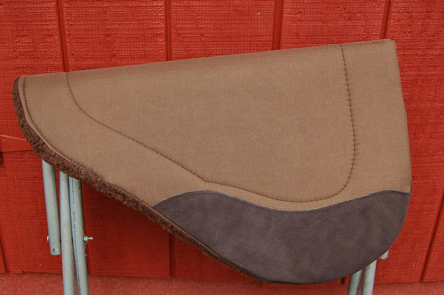 RIDERS CHOICE SADDLE PAD BROWN BARREL ROUND  FREE SHIP NEW MADE IN ALABAMA USA