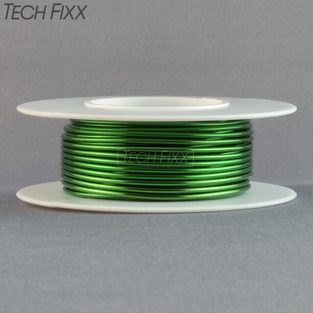 Magnet Wire 18 Gauge AWG Enameled Copper 25 Feet Coil Winding and Crafts Green
