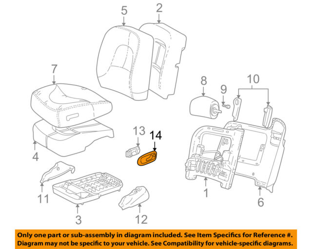 OEM Genuine GM Power Seat Switch Bezel Front LH 97-05 Buick Park Avenue 12531397