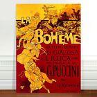 "Stunning Vintage French Theatre Poster Art ~ CANVAS PRINT 16x12"" ~ La Boheme"