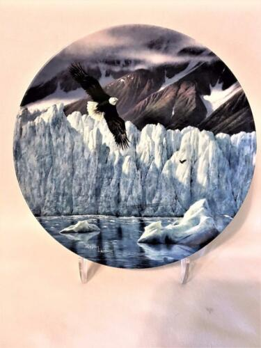 "Ltd Ed FINE CHINA BALD EAGLE PLATE /""ICY MAJESTY/"" #1 ALASKA LAST FRONTIER 1991"