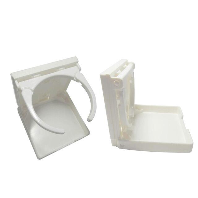 Adjustable Folding Nylon//Plastic Drink Beverage Cup Holder White Boat RV