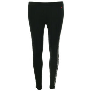 Détails sur Vêtement Leggings Champion femme taille Noir Coton